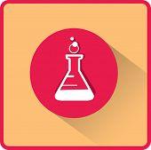 image of beaker  - flat beaker icon - JPG