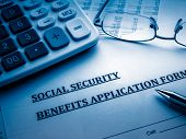 foto of social-security  - social security benefits application form - JPG