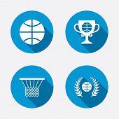 pic of laurel  - Basketball sport icons - JPG