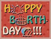 picture of birthday  - Colroful Birthday Card - JPG