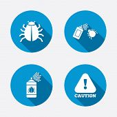 stock photo of disinfection  - Bug disinfection icons - JPG