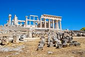 image of greek-island  - The ruins of the ancient greek temple - JPG
