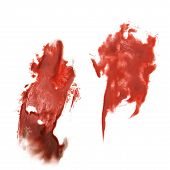 picture of insults  - abstract hand red drawn watercolor blot insult  Rorschach psychology - JPG
