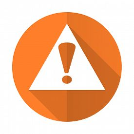 foto of warning-signs  - exclamation sign orange flat icon warning sign alert symbol