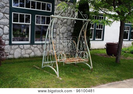 Rusted Metal Swing