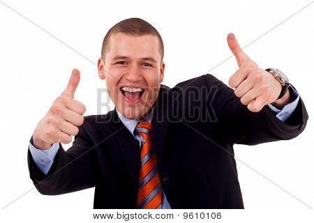 Man Showing His Thumbs Up
