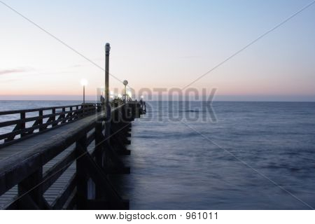 Pier At Sundown