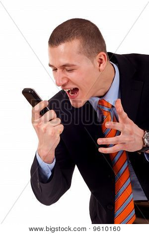 Male Yelling At The Cellphone