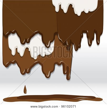 Chocolate background. Raster version