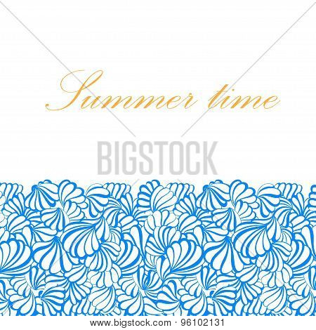 sea shell vector pattern on a background.