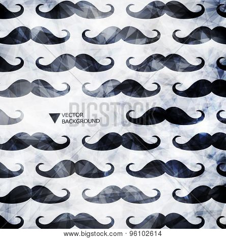 Mustache background in modern style