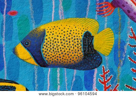 Blue-girdled Angelfish (pomacanthus Navarchus)
