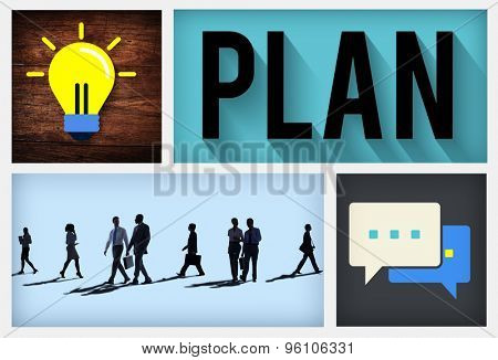 Plan Vision Strategy Tactic Planning Concept