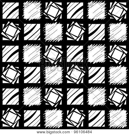 Black And White Repeating Block Pattern