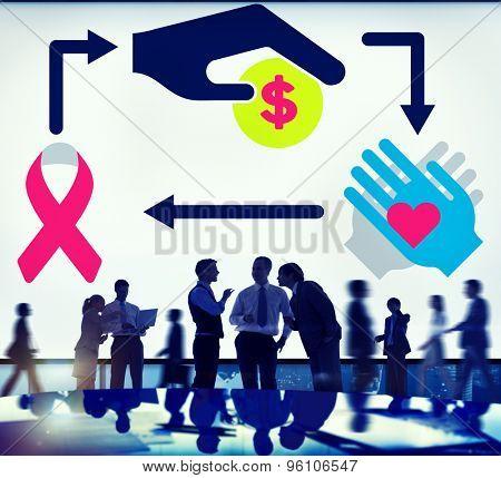 Donate Charity Money Help Give Volunteer Concept