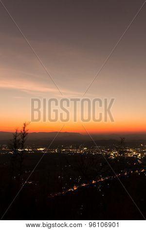 Skyline On Countryside