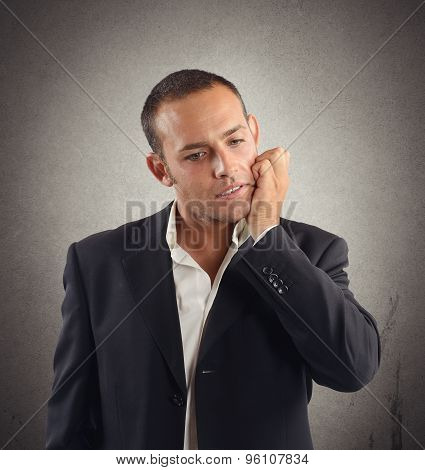 Businessman under tension