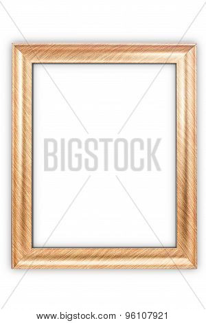Gold frame isolated on white background.