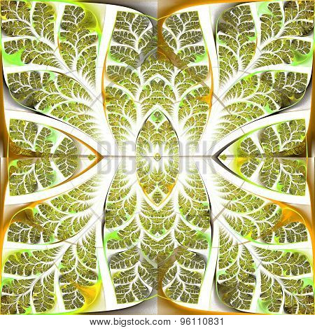 Fabulous Fractal Pattern. Collectiont - Tree Foliage. Computer Generated Graphics.