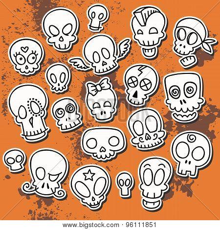 Cute Sketchy Skulls