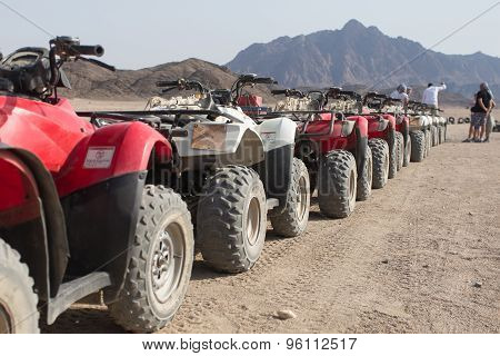 Quad Bikes In A Row