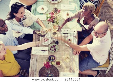 Diverse People Hanging Out Drinking Concept