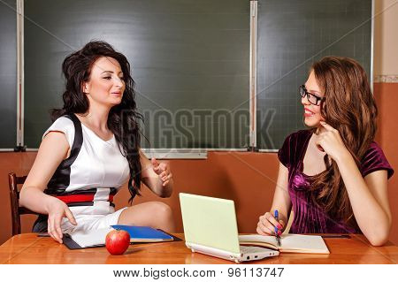 Teacher Conducts Private Lesson With Student.