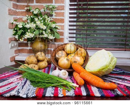 Vegetables On The Table.  Fragment