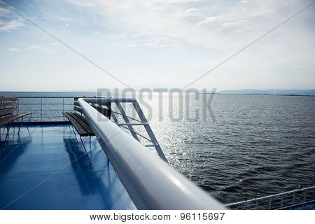 Fence on a ferry boat