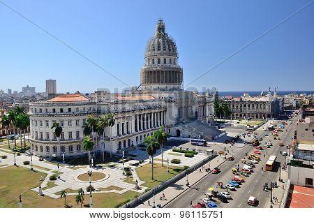 Capitolio Of Havana, Cuba