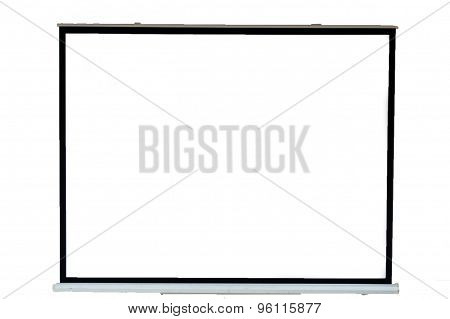 Projector screen on white