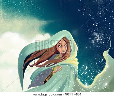 Daydream girl  ilustration
