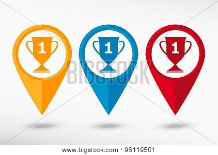 Champions Cup vector map pointer