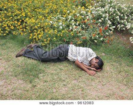 Drunkard sleeping