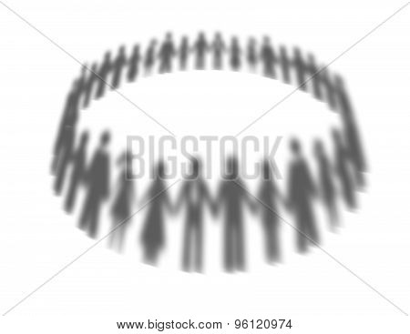 Society, Network, Togetherness Abstract Concept With People Silhouettes