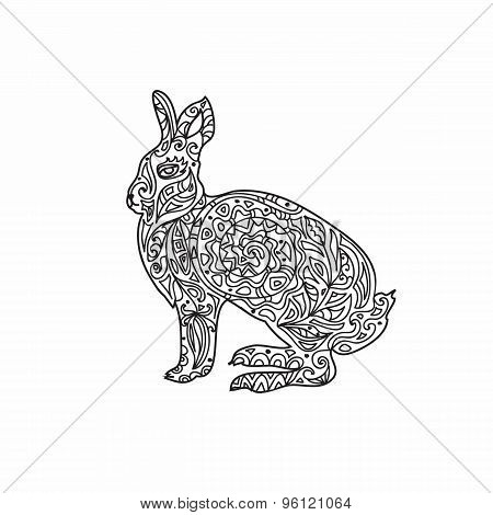 Rabbit zentangle