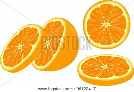Slices of orange.
