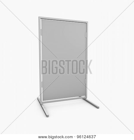 Blank Business Message Board Isolated On White.