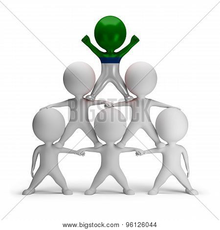 3d small people standing on each other in the form of a pyramid with the top leader Finnish Tatars