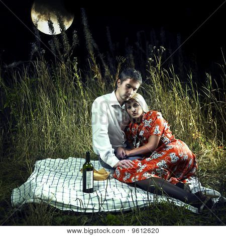 Lovers In The Moonlight Picnic