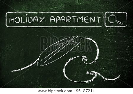 Online Search For Holiday Apartments