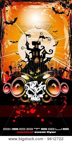 Suggestive Hallowen Party Disco Flyer