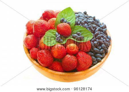Strawberries And Honeysuckle