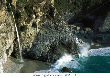 Rugged Big Sur Waterfall