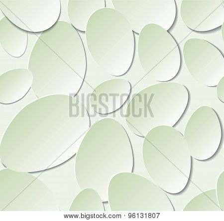 Seamless pattern with paper flower petals