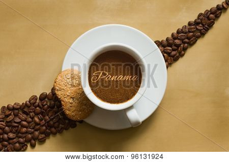 Still Life - Coffee With Text Panama
