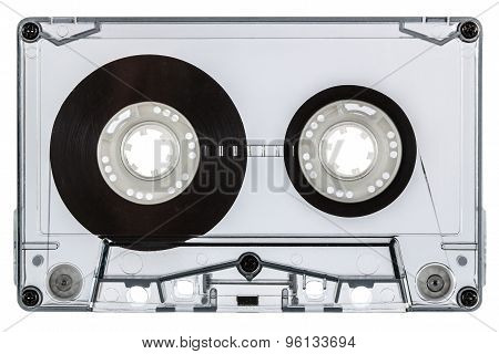 ?lose Up Of Vintage Audio Cassette, Isolated On White Background