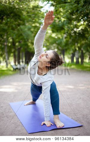 Yogi Girl In Extended Side Angle Pose