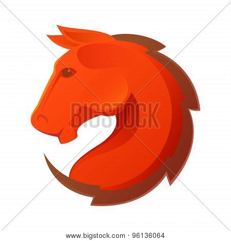 Horse Head Vector Logo