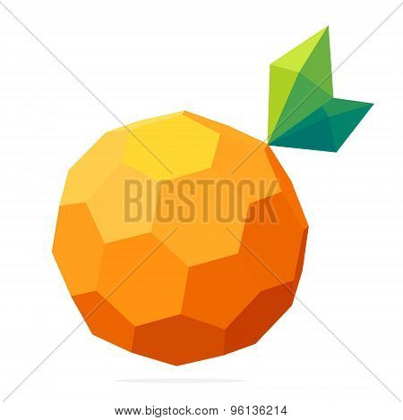 Abstract Vector Polygon Logo. Low Poly Sphere.